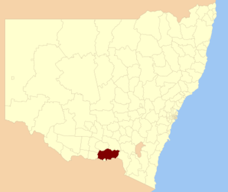Greater Hume Shire - Greater Hume Shire location in New South Wales