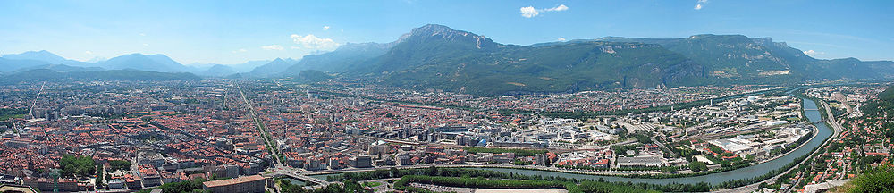 Panoraamvaade Grenoble'ile