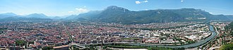 Cavale - Grenoble (west side) from la Bastille