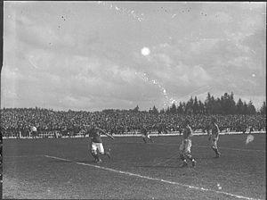 Gressbanen - An international football match in 1925