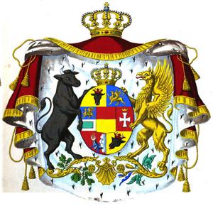 Grand Duchy of Mecklenburg-Strelitz - Image: Grossherzogswappen Mecklenburg (Schwerin&Strelitz)