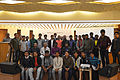 Group photo of Bengali Wikipedians at Wikipedia 15 celebration in BSK (02).jpg