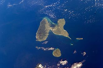 Guadeloupe, knipset faan a ISS.