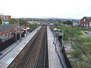 Guide Bridge railway station Railway station in Greater Manchester, England