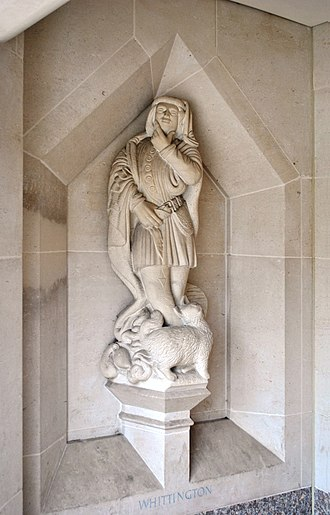 Dick Whittington and His Cat - Dick Whittington and His Cat, a statue in the Guildhall, London.