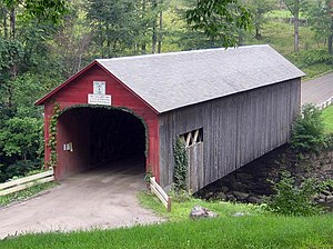 Guilford, Vermont - A covered bridge in Guilford