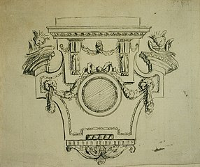 Design for a base of a statue