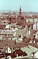 Győr, Belváros, Városháza tornya, kilátás Pannonhalma felé. Fortepan 27115.jpg
