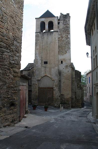 Hérépian (Hérault) - clocher de l'ancienne église désaffectée Saint-Martial.