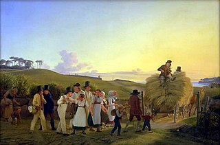 Farmers Returning Home from the Field with the Final Sheaves of Grain