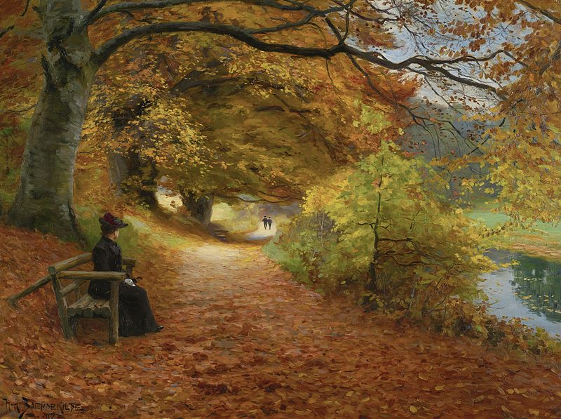 File:H. A. Brendekilde - A wooded path in autumn (1902).jpg
