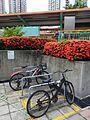 HK 屯門 Tuen Mun 建生邨 Kin Sang Estate bike parking red flowers Kin Sang Stop July 2016 DSC.jpg