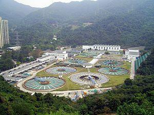Water supply and sanitation in Hong Kong - Sha Tin Water Treatment Works in Tai Wai