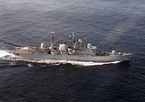 HMS Exeter (D89) underway 1986.JPEG