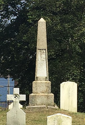 Rodney Mundy - Monument erected by Mundy to the crew of HMS Royal Albert that died at Halifax, Royal Navy Burying Ground (Halifax, Nova Scotia)