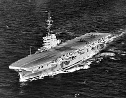 HMS Venerable (R63) underway in 1945.jpg
