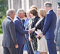 HRH Prince of Wales meets Secretary of State Karen Bradley at the Royal Garden Party held at Castle Coole earlier today. (47957756611).jpg