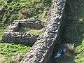 Hadrian's Wall and turret near Peel (4) - geograph.org.uk - 599528.jpg