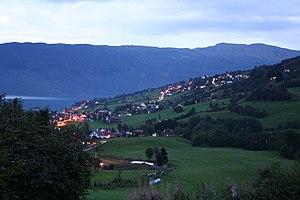 Hafslo (village) - View of the village