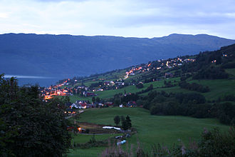 Hafslo (village) - View of the village