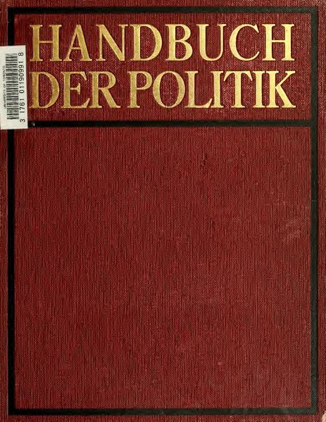 Handbuch der Politik Band 1
