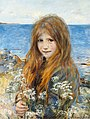 Hans Olaf Heyerdahl - Little girl on the beach.jpg