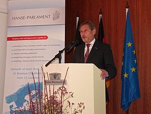 Hanseatic Parliament - EU Commissioner Johannes Hahn at the General Assembly of the Hanse Parlament 2012