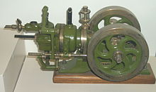 gas engine wikipedia  diagram of the first gas engine #1