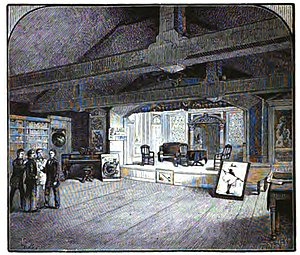 Hasty Pudding Club - The Hasty Pudding Club stage c. 1876