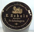 Hat band box of furrier Scholz in Schöningen, Germany c 1890 c.jpg