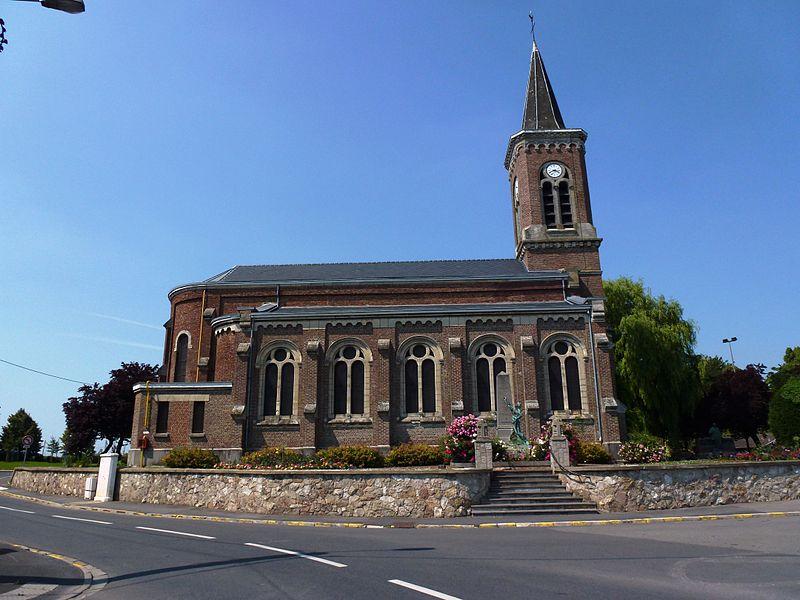 Haulchin (Nord, Fr) église, extérieur