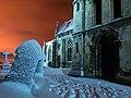 Hedon Churchyard in the Snow - geograph.org.uk - 2184571.jpg