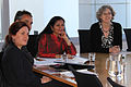 Helen Brereton, Ziad Sheikh and Lakshmi Puri, Deputy Executive Director of UN Women meet with AusAID during the UN Women National Committee's Meeting. Canberra 2011. Photo- AusAID (10700347354).jpg