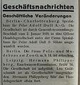 Hermann Philippsberg, Rauchwaren-Kommission, Leipzig, Gesellschaft ist aufgelöst (Februar 1935).jpg