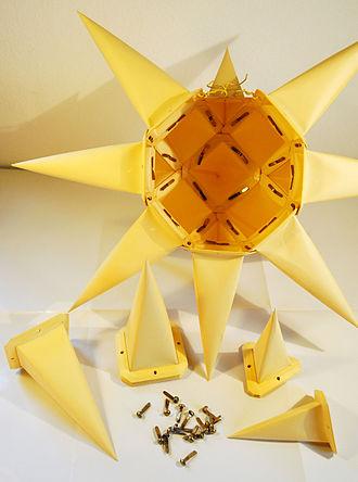 Moravian star - A Moravian star half done