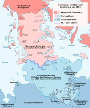 Schleswig-Holstein Question - Schleswig and Holsten before the Second Schleswig War.
