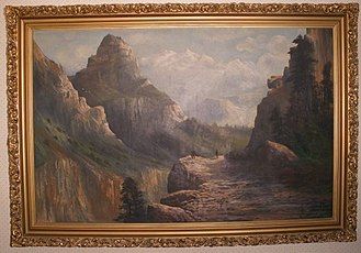 """Early California artists - The """"Hetch Hetchy Little Arroyo"""" signed C.N. Doughty, in 1908 and now submerged under a reservoir."""