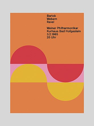 Ulm School of Design -  Poster designed by Margarete Kögler in the class of Otl Aicher.