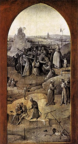 Hieronymus Bosch - Triptych of Temptation of St Anthony (outer right wing) - WGA2605