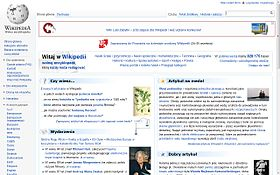 Screenshot of the Main Page of the Polish Wikipedia on September 9, 2011.