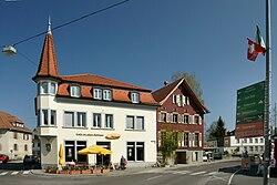 Hofsteigstraße 1 altes Rathaus Hard.JPG