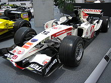 Photo de la Honda RA106 de 2006 qui sert de base à la Super Aguri SA07