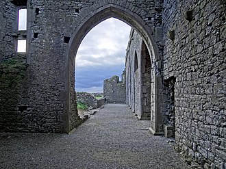 Hore Abbey - Archway inside the ruins