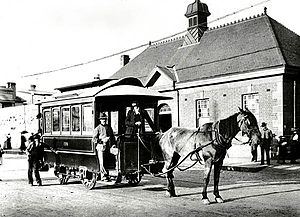 Trams in Sydney - Horsedrawn tram which ran between Newtown and St Peters stations, c1894