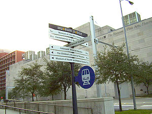 Houston Museum District - A direction sign in the Museum District