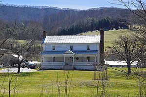 National Register of Historic Places listings in Craig County, Virginia - Image: Huffman House east of Newport