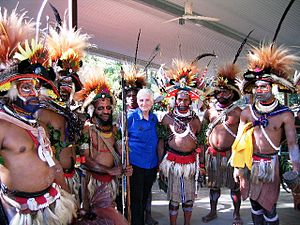 Huli people - Huli Wigmen, Queensland Music Festival, Cooktown, Australia, 2005.