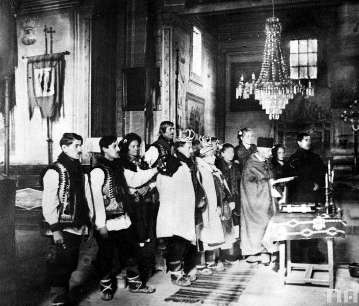 Wedding Altar Wiki: File:Hutsul Wedding In Church.jpg