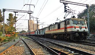 Express trains in India - Image: Hwhraj 1