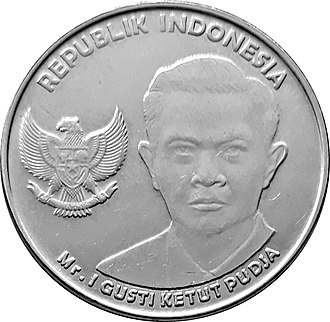 I Gusti Ketut Pudja - IDR 1000 coin featuring I Gusti Ketut Pudja